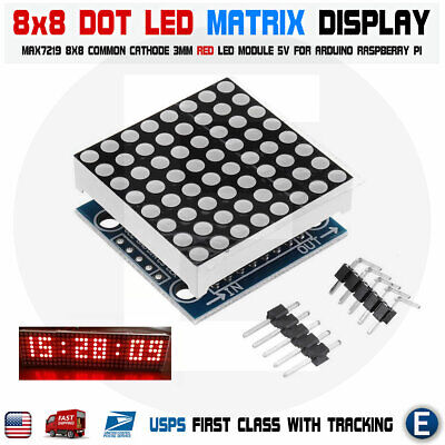 MAX7219 RED dot matrix 8x8 8*8 led display module Arduino MCU DIY Raspberry pi