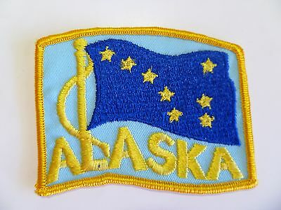 State Of Alaska AK Flag Stick On Embroidered Applique Patch. 3.75 inches long