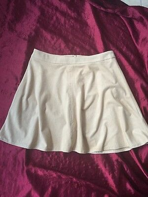 Beige Faux Suede Flared Skirt Girls Age 12-13 New Look 915 Generation