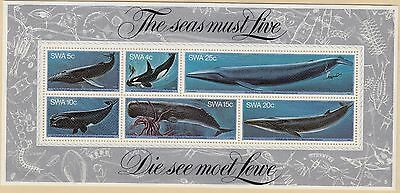 SOUTH WEST AFRICA MNH Scott # 442a Whales - left edge small damage (1 Sheet) -2