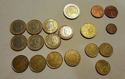 Lot of 19 Euro Circulated Coins