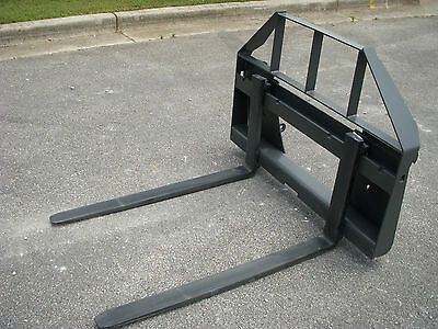 """Quicke Euro Global Tractor Loader Attachment - 42"""" Pallet Forks - $149 Ship"""
