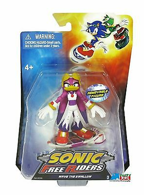 """Sonic The Hedgehog Free Riders 3"""" Plastic Action Figure - Wave The Swallow"""