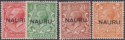 NAURU KGV 1923 Set of 4 Values Scott 1a-4b SG13-16 Never Hinged