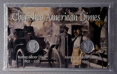 "Dime Set ""Barber 1912 and Mercury 1943"" Titanic & WWII time capsule"