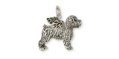 Soft Coated Wheaten Angel Charm Jewelry Sterling Silver Handmade Dog Charm SCW7-