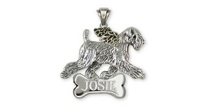 Soft Coated Wheaten Angel Personalized Pendant Jewelry Sterling Silver Handmade