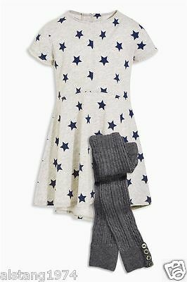 BNWT GIRLS  NEXT 5-6 YEARS (up to116cm) Star Dress And Footless Set