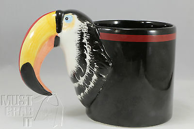 Toucan Coffee mug Tea cup Hand painted Bergshrung Seattle 1986