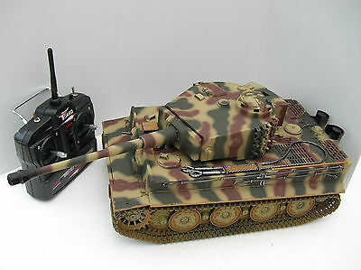 Taigen 1/16 2.4 GHz RC German Tiger 1 Late Camouflage BB Tank Metal Tracks