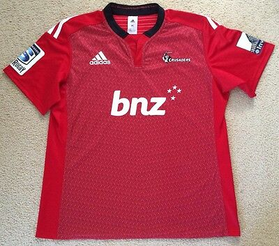 New Authentic Mens CRUSADERS New Zealand Rugby Union Jersey Shirt Adidas 2XL