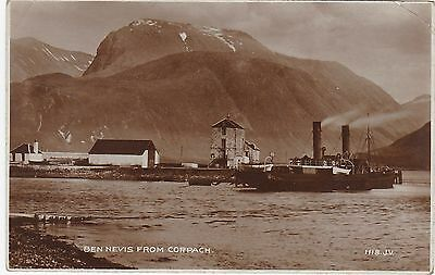 Ben Nevis & Paddle Steamer, CORPACH, Inverness-shire RP