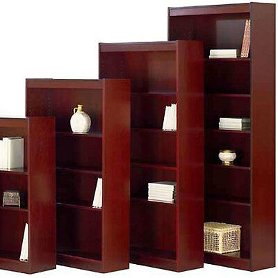 """OFFICE BOOKCASES Book Case 30"""" - 84"""" Tall Big Cherry Mahogany Wood Wooden Doors"""
