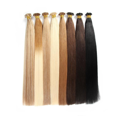 """100% Indian Remy Pre Bonded Utip Nail Tip Extensions 18"""" 20"""" 22"""" Double Drawn"""
