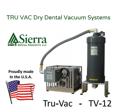 New*  Single Dry Dental Vacuum -  2.4 HP (for 1 – 6 Operatories) 10 yr. Warranty