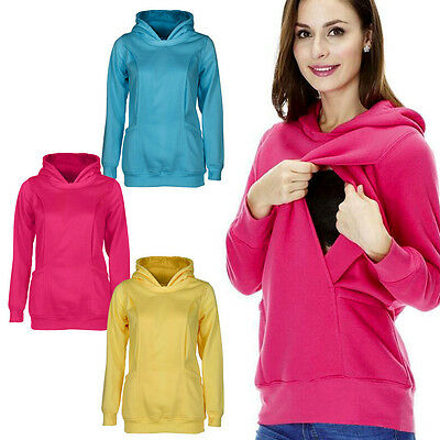 Women Maternity & Nursing Warm Hoodie Pregnancy Breastfeeding Top Sweatshirt Lot