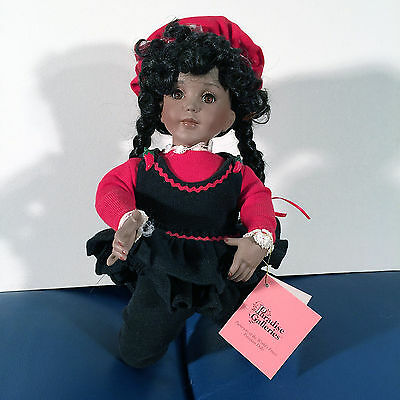 African American Girl Porcelain Doll issued by Paradise Galleries
