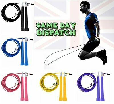 Gym Fitness Workout Steel Skipping Cable Jump Speed Jumping Rope Boxing Crossfit