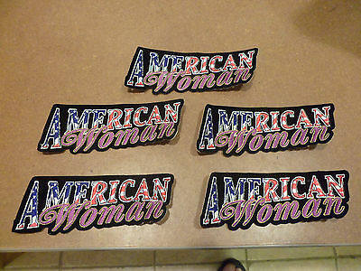 "5 ""AMERICAN WOMAN"" Patches!! (2 x 6 inches)"