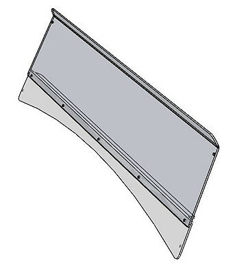 2804-AP65 Prowler (square tubing) clear half windshield with black stiffener