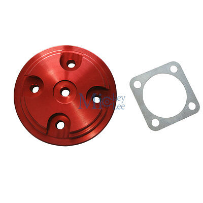 Red Cylinder Head Cover With Gasket For 80cc Engine Modified Motorized Bike