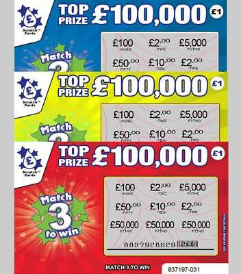Stag Night Prank -Fake Joke Lottery Scratch Card Scratchcards £50,000-£100,000