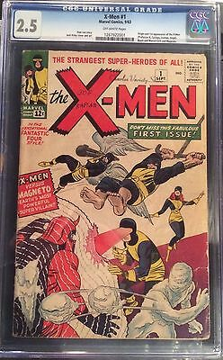 X-Men #1 CGC 2.5 Off White Pages Origin + 1st Appearance of X-Men & Magneto 1963