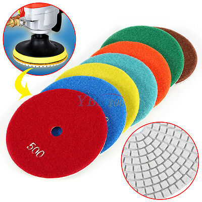 5 inch Wet/Dry Diamond Polishing Pads Sanding Disc Marble Granite Glass Concrete