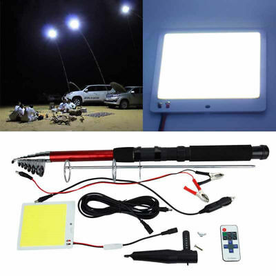 Car Truck Telescopic Rod LED Outdoor Lantern Travel Party Light Remote Control