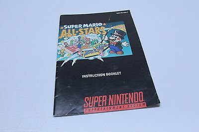 Super Mario Kart Super Nintendo SNES Manual Instructions Only Complete your game