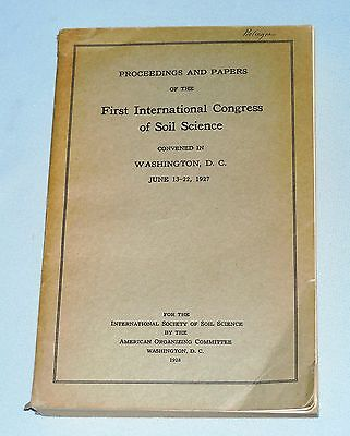 First International Congress of Soil Science 1928 Vintage Softcover Book