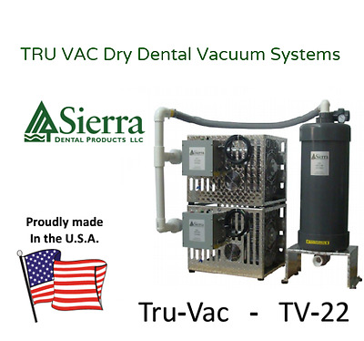 Quality DUAL Dry Dental Vacuum - 2.4HPX2  (for 6 – 12 Operatories) 🇺🇸USA🇺🇸