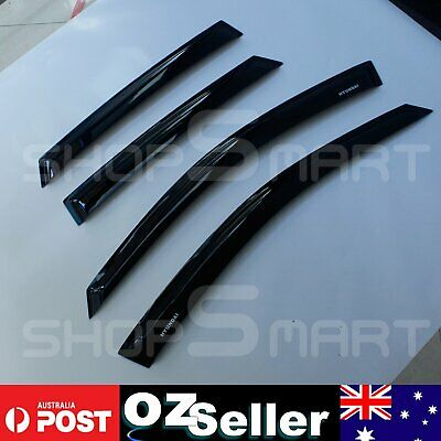 Hyundai I30 2009-14 Front & Rear Weathershields Weather Shields Window Visor