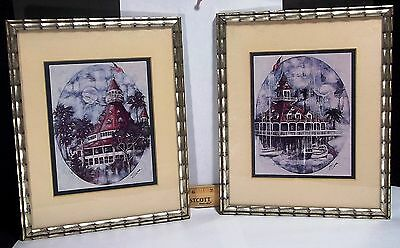 Hotel Del Coronado- 1977 Framed Reproductions of Sue Tushingham McNary Art