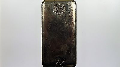 1 Kilo Silver 999 Perth Mint Bullion Bar