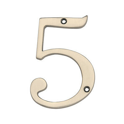 Gatehouse 4in Satin Nickel House Number 5  - Lot of 2