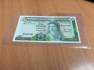 1988 Government of Gibraltar Five Pounds Gem-Uncirculated