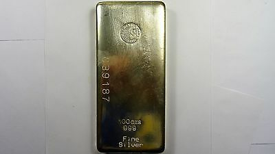 100oz Silver 999 Perth Mint Bullion Bar