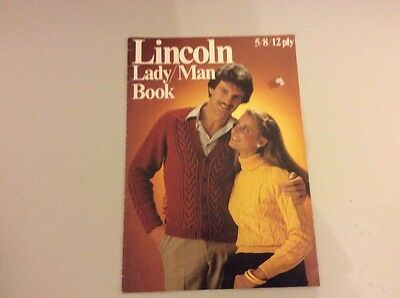 Lincoln Knitting Book * Man/lady 5/8/12 Ply * 6 Designs