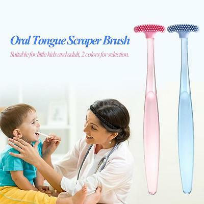Tongue Scraper Oral Tongue Cleaner Cleaning Brush Mouth Fresh Breath Maker I4Q9