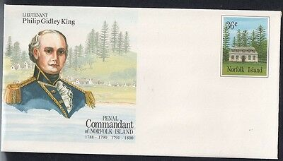 Norfolk Island Penal Commandants Pre Stamped Envelopes Collection of 8