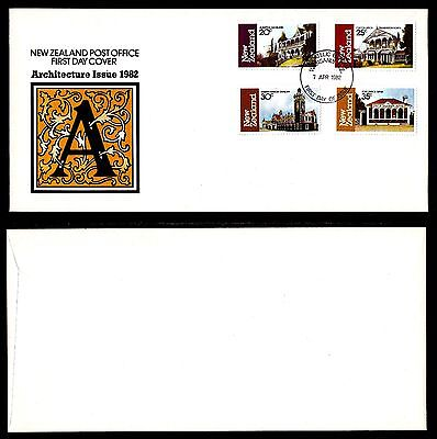 New Zealand Stamp Cover. Fdc. 7-4-1982. Architecture Issue