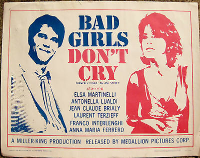 Bad Girls Don't Cry - original Movie Poster 1959  OLD
