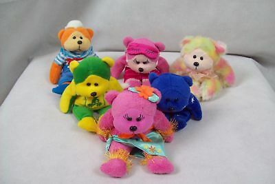 Collectable Beanie Kid Beanbag Toys - Mixed Theme - Lot of 6 Soft Cuddly Plushes