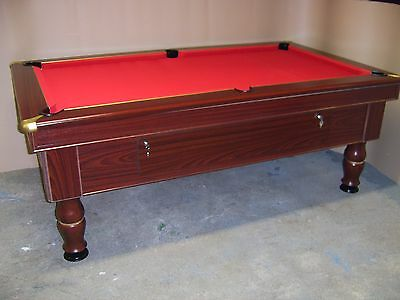Slate Bed Pub Pool Table ☀ 7x4 ☀ Excel Mayfair ☀ New Recover & Accessories