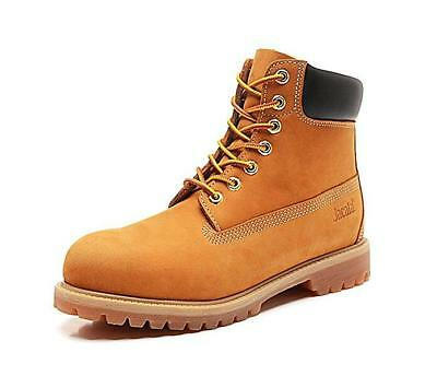 Mens Waterproof Work Boots Casual Shoe Genuine Leather 6'' Lace Up Shoes 061