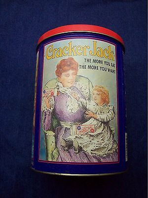 Cracker Jack Limited Edition 1992 Collector Round Tin Third in Series Baseball