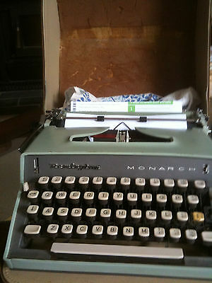 Remington Monarch Portable Typewriter ca. 45 years old