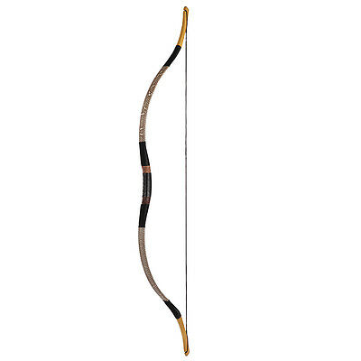 Traditiona Archery Chinese Hungarian Bow Gray Snakeskin Horsebow Longbow 20-80lb