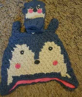 hat & mittens set age 3-4 years